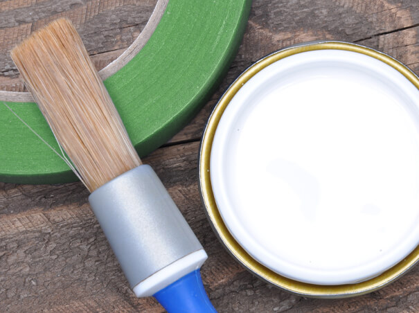 Green tape with white paint